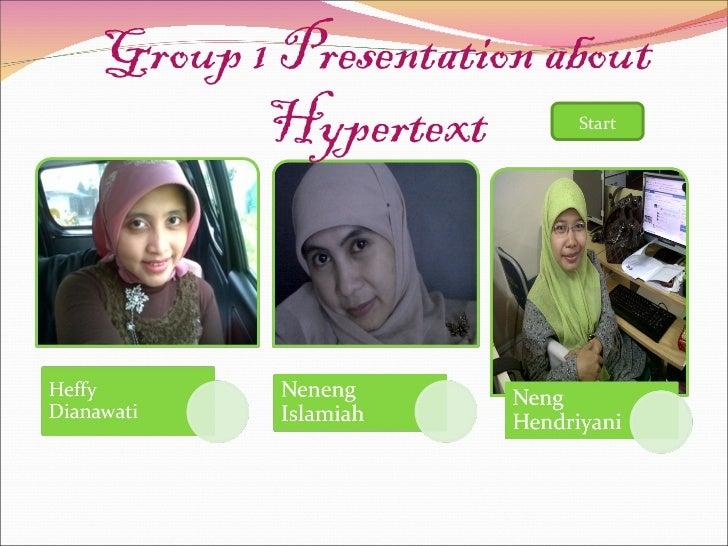 Group 1 Presentation about Hypertext Start