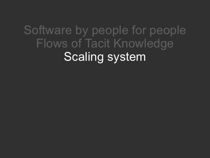 Nature of Social Software and how it transforms the business