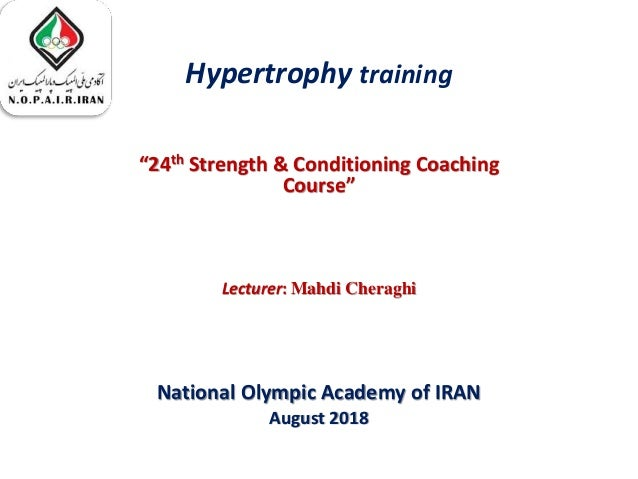 Hypertrophy:Basics and Advanced methods