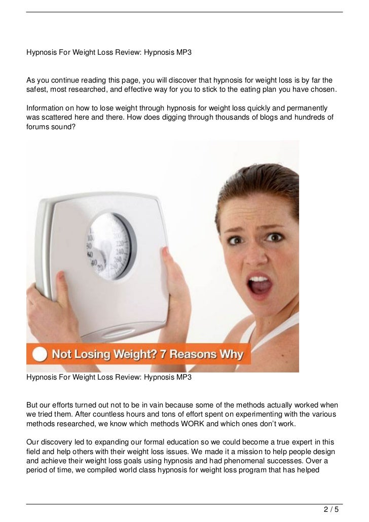 Hypnosis For Weight Loss Review: Hypnosis MP3
