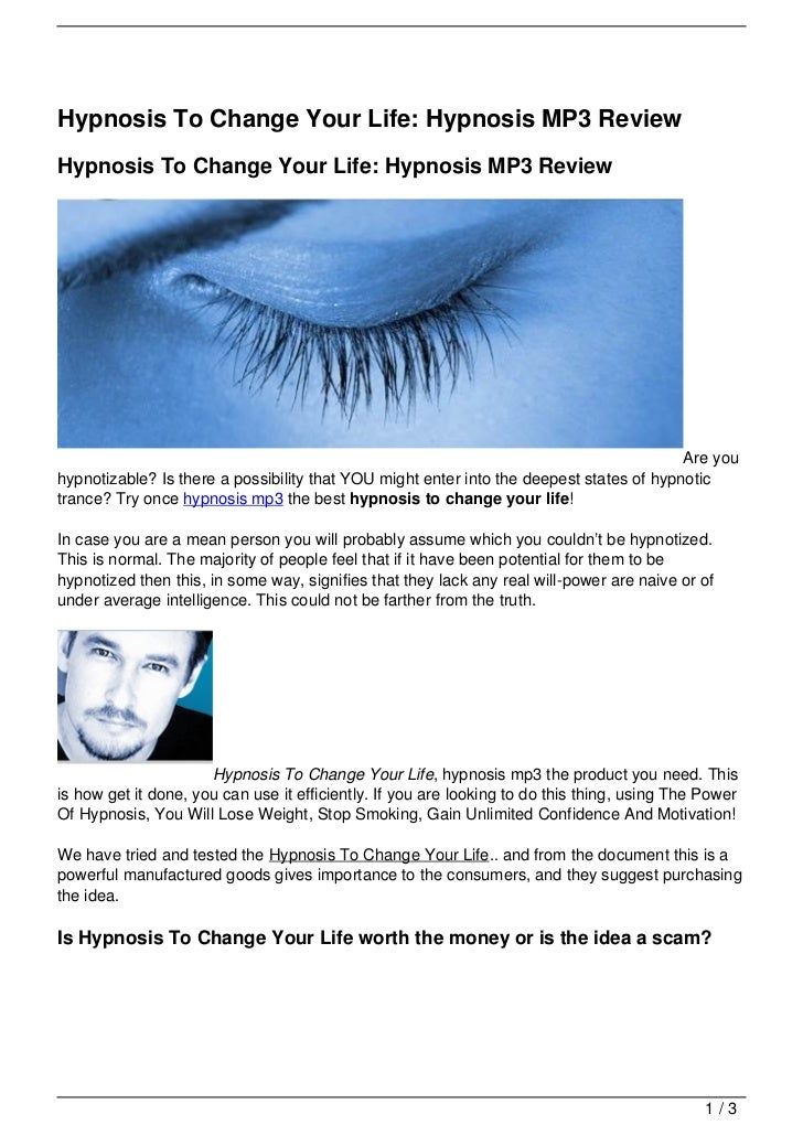 Hypnosis To Change Your Life: Hypnosis MP3 ReviewHypnosis To Change Your Life: Hypnosis MP3 Review                        ...