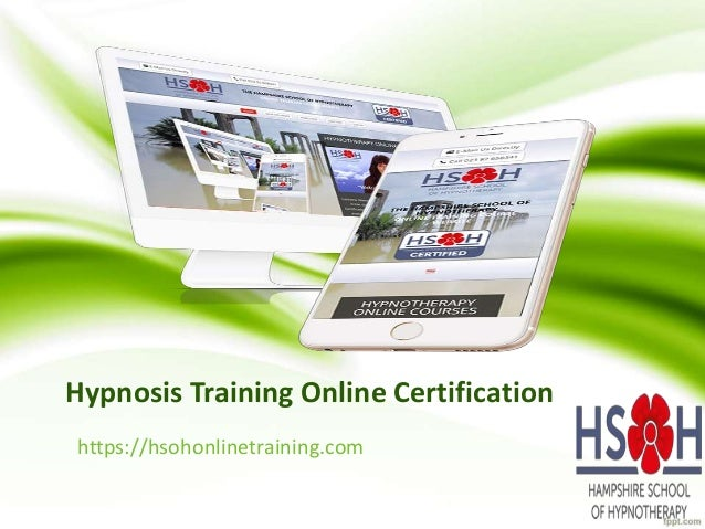 Hypnotherapy Training Online Courses - Hypnotherapy to ...