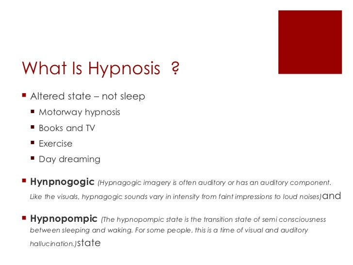 what is hypnotherapy Overview what is hypnotherapy the term hypnosis comes from the greek word hypnos, meaning sleep hypnotherapists use exercises that bring about deep relaxation.