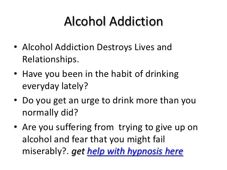 Hypnosis Treatment for Addictions