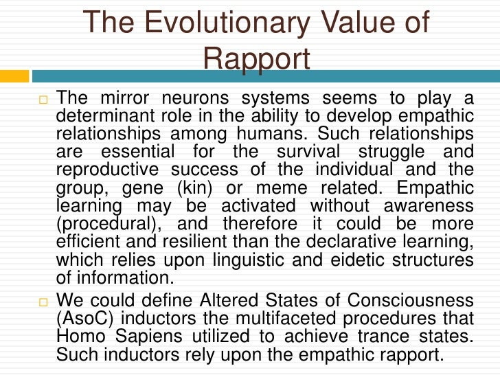 Hypnotic Trance And Theory Of Mind An Evolutionary Point