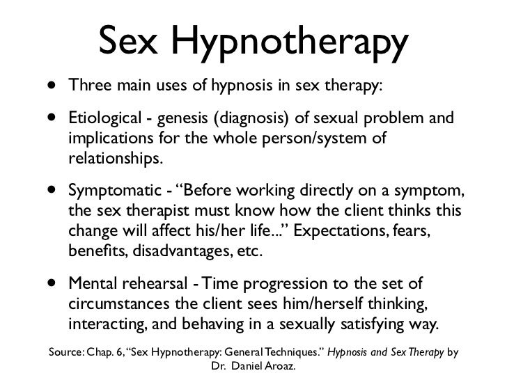 Sex therapy techniques for men