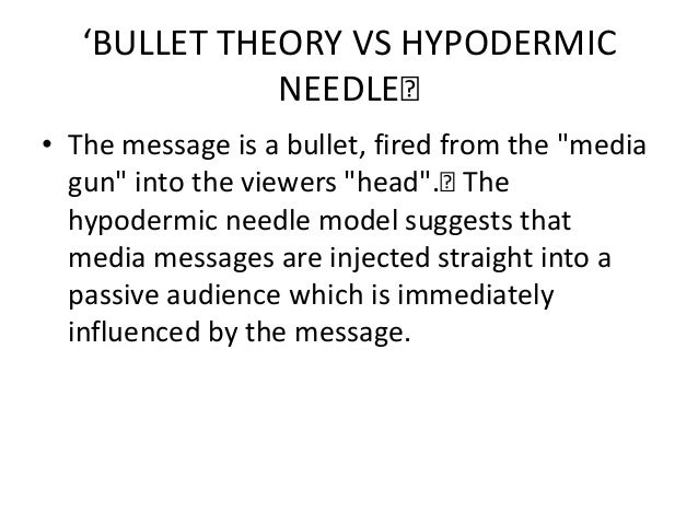 Hypodermic needle theory !