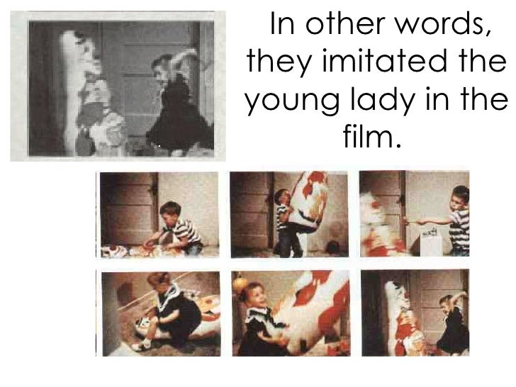 In other words, they imitated the young lady in the film.