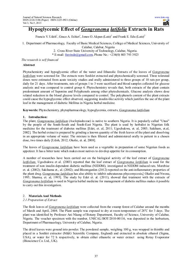 Journal of Natural Sciences Research www.iiste.orgISSN 2224-3186 (Paper) ISSN 2225-0921 (Online)Vol.3, No.5, 201337Hypogly...
