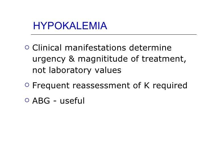 CME - Hypokalemia