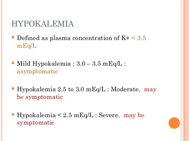 Hypokalemia and hyperkalemia indore pedicon 2014 final