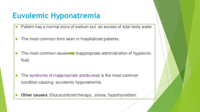 Hyponatremia and hypernatremia