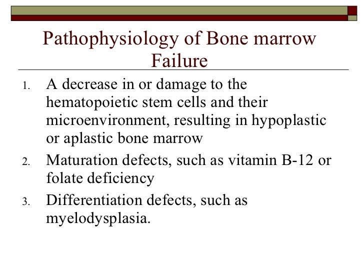 What are the signs and symptoms of bone marrow disease?