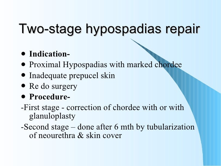 hypospadias treatment and management essay