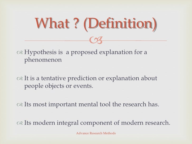 What is a Hypothesis? - Definition & Explanation - Study.com