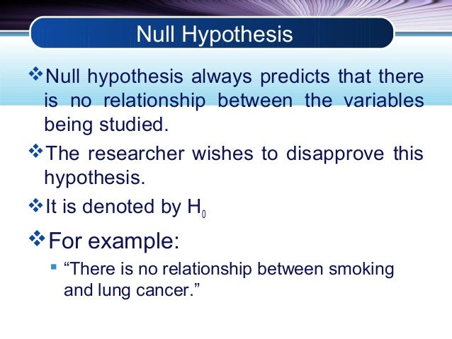 null hypothesis meaning