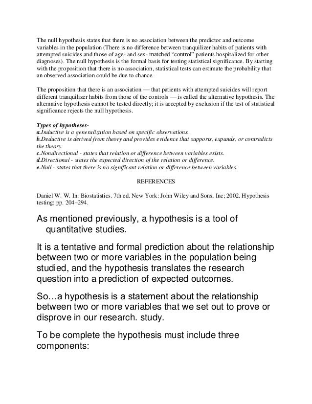 The null hypothesis states that there is no association between the predictor and outcome variables in the population (The...