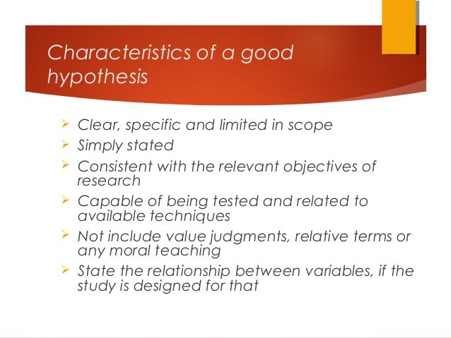 WHAT IS A HYPOTHESIS? - Research Methodology