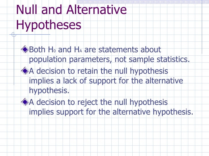 how to decide null and alternative hypothesis