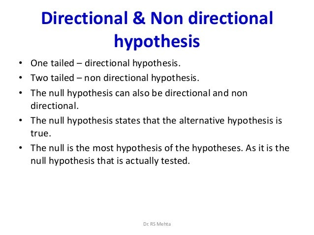 how to find the null and alternative hypothesis