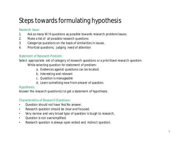 how to write a hypothesis for a research paper pdf