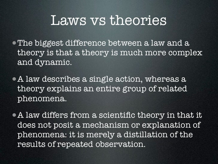 difference between theory and thesis