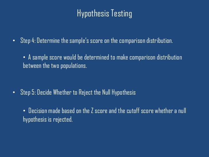 hypothesis testing paper and presentation Hypothesis testing (tests of significance) in basic statistics units, the examinations will have quite a few questions involving tests of significance of one sort or another so we should try to find a little pattern that we can follow and adapt where necessary.