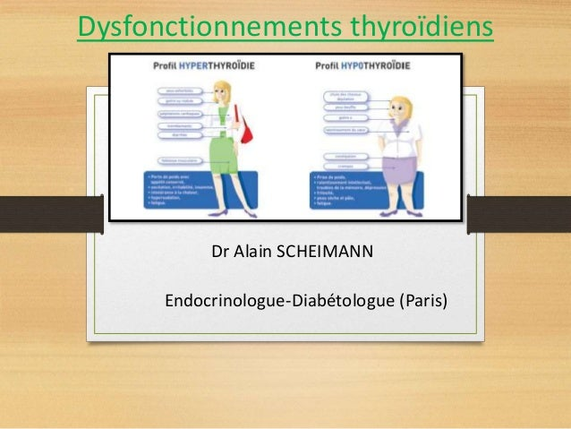 Dysfonctionnements thyroïdiens Dr Alain SCHEIMANN Endocrinologue-Diabétologue (Paris)