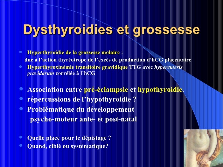 Hypothyroidie et grossesse - Hormones de grossesse apres fausse couche ...