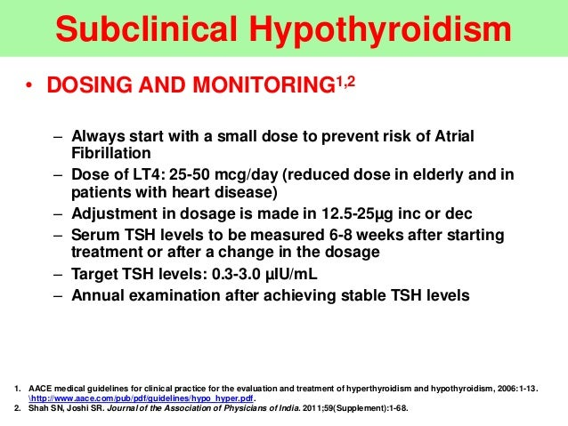 subclinical hypothyroidism in pregnancy guidelines