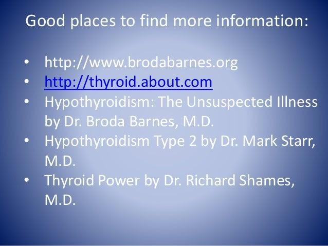 Hypothyroidism: The Unsuspected Illness