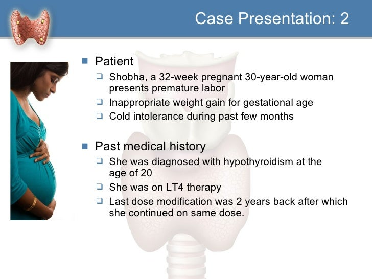 Case Study on Hypothyroidism | Case Study Template