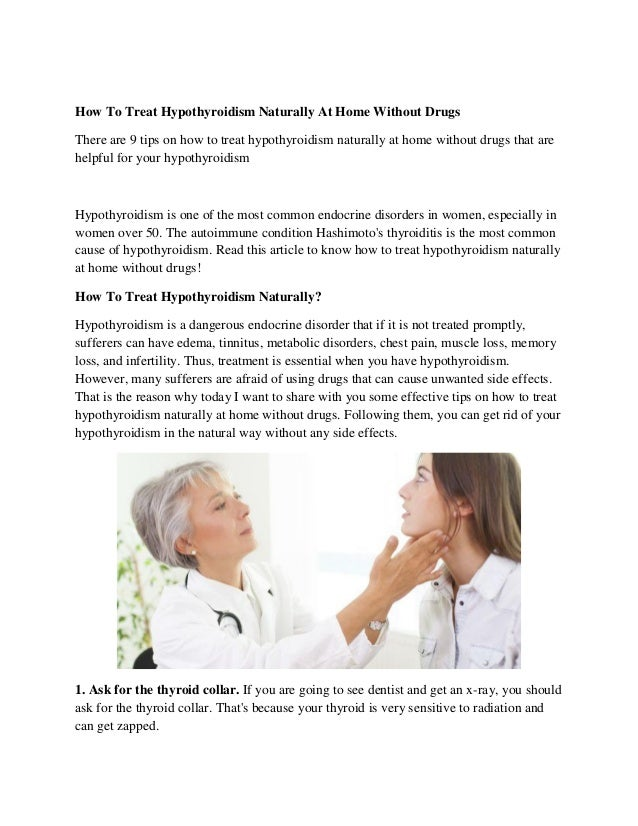 How To Treat Hypothyroidism Naturally At Home