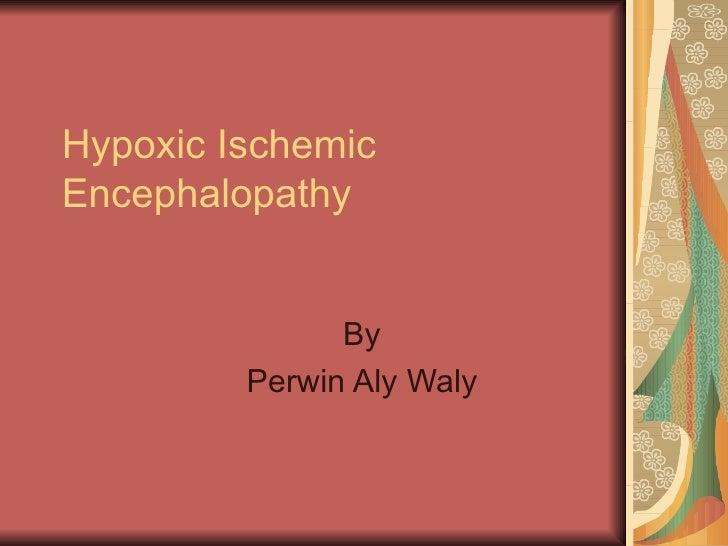 Hypoxic Ischemic Encephalopathy By Perwin Aly Waly