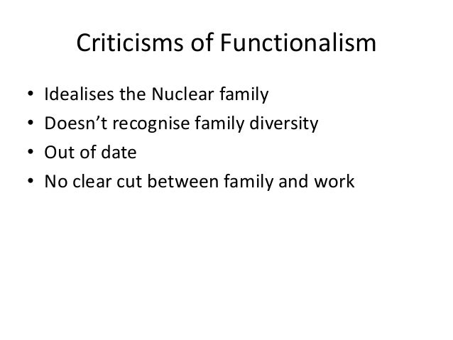 functionalist workplace Free functionalist papers, essays functionalists see society as a set of parts which work together to form a whole functionalism is also called a consensus.