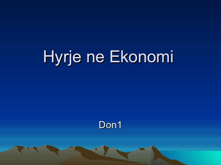 Hyrje ne Ekonomi  Don1
