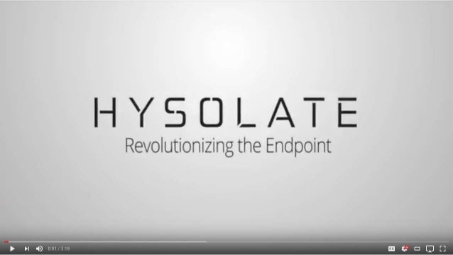Hysolate Overview