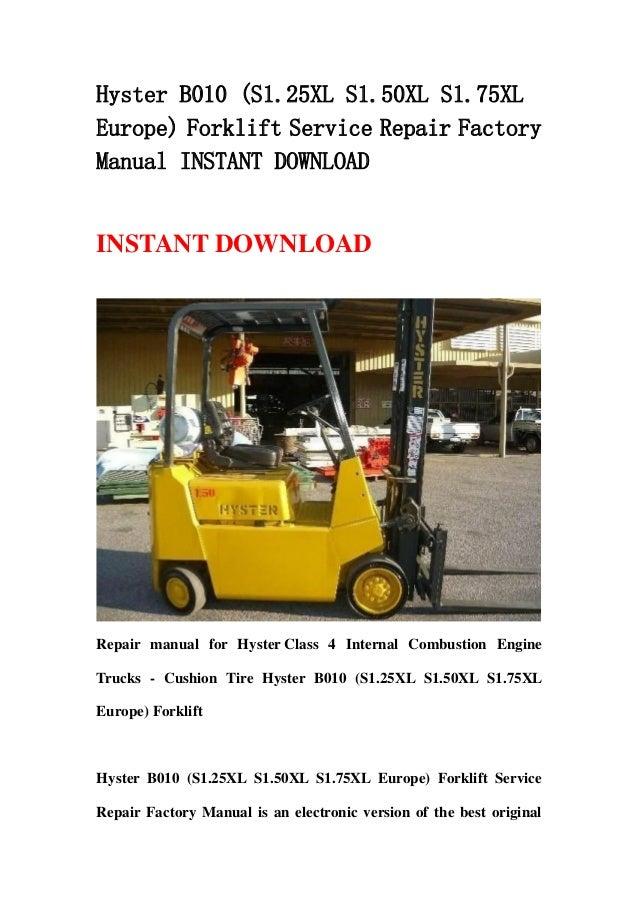 hyster 50 forklift service manual
