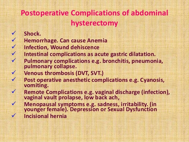 Radical hysterectomy and sexuality and depression