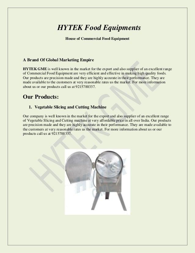 Hytek Food Equipments