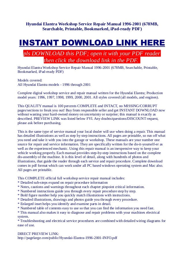 Hyundai Elantra Workshop Service Repair Manual 19962001 678mb Searchable Printable: Hyundai Accent 2000 Wiring Diagram Pdf At Jornalmilenio.com