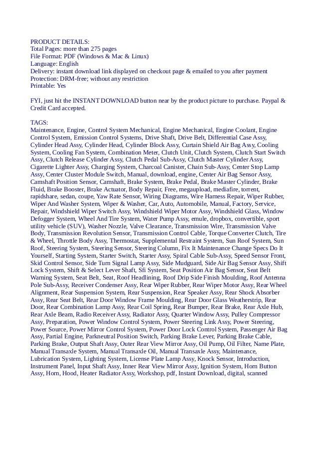 hyundai elantra workshop service repair manual 1996 2001 678 mb sea