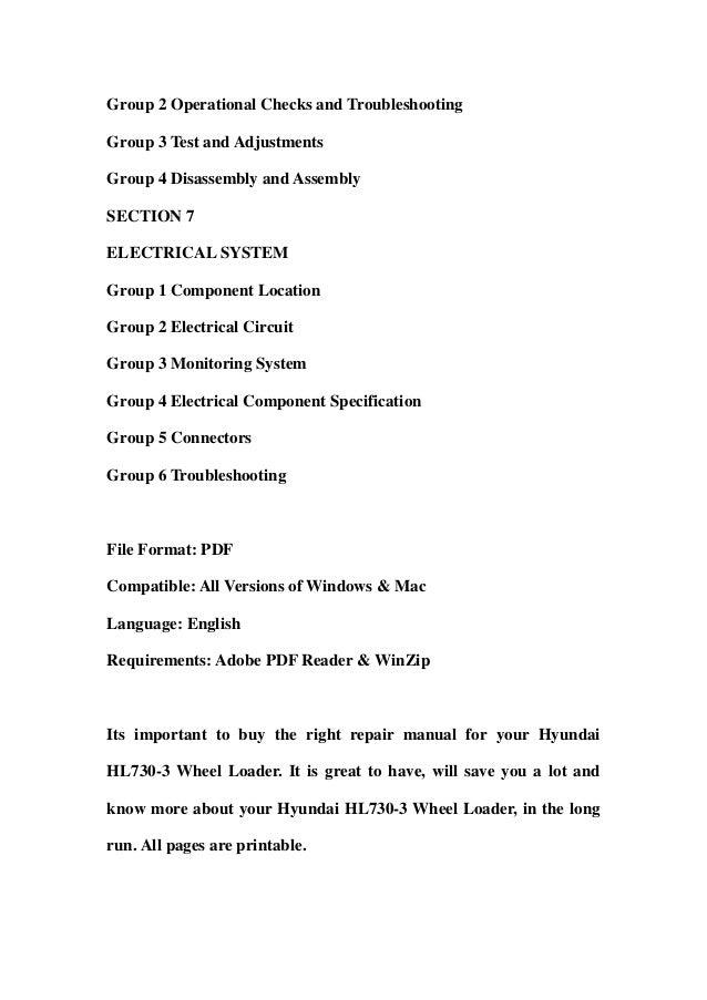 Hyundai hl730 3 wheel loader service repair workshop manual download Slide 3