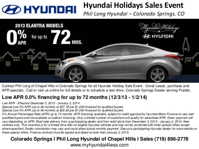 Phil Long Hyundai >> Hyundai Holidays Sales Event L Colorado Springs Phil Long Of Chapel