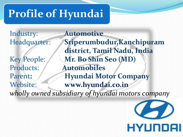 hyundai india ltd On hyundai motor group subsidiaries