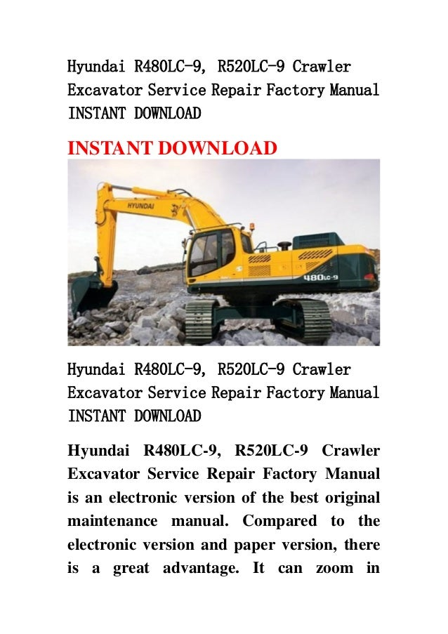 Service manual hyundai r520lc complete wiring diagrams hyundai r480 lc 9 r520lc 9 crawler excavator service repair factory rh slideshare net hyundai coupon fandeluxe Gallery