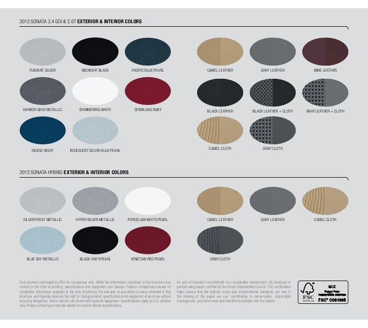 Hyundai Sonata Interior Colors