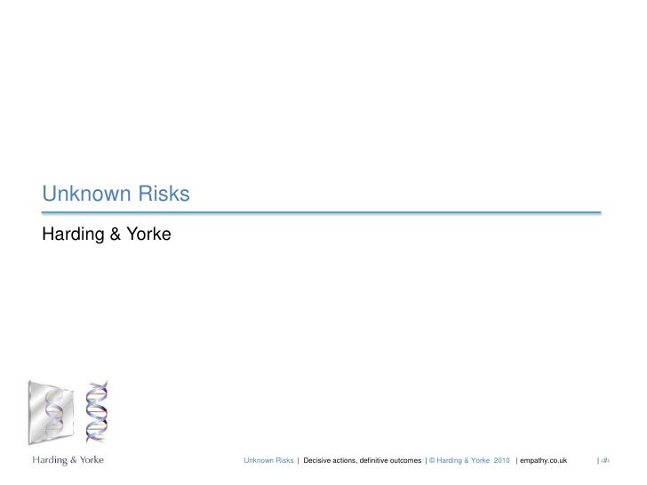 Unknown Risks<br />