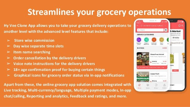 Streamlines your grocery operations Hy Vee Clone App allows you to take your grocery delivery operations to another level ...