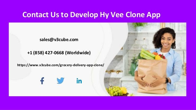 Contact Us to Develop Hy Vee Clone App sales@v3cube.com +1 (858) 427-0668 (Worldwide) https://www.v3cube.com/grocery-deliv...
